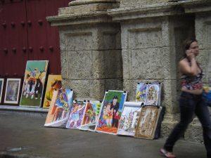 路地の絵画